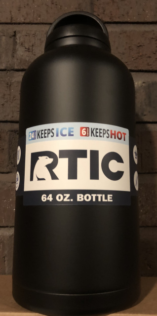 12d0fb7ce90 64oz. RTIC Bottles are stainless steel, double wall vacuum insulated. Keeps  your drinks ice cold longer - works great for hot beverages.